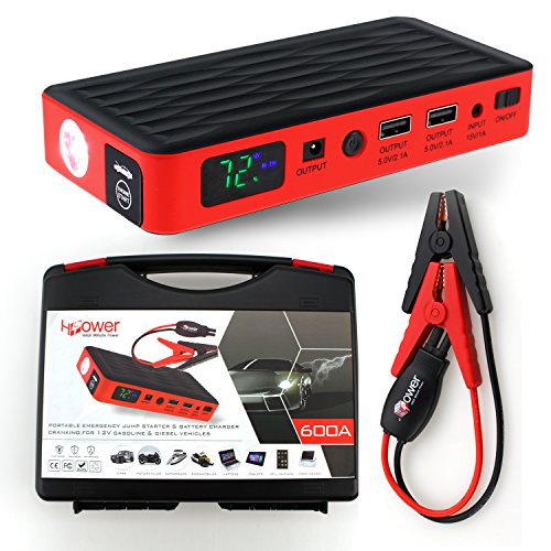 Half Minute Power 600a Peak 12v Portable Car Battery Jump Starter