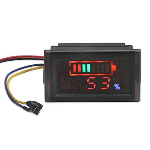 DROK 2in1 Battery Monitor Digital Voltmeter Tester for