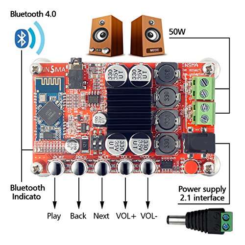 Switching Adapter DC 12V/3A for INSMA Audio Amplifier Board