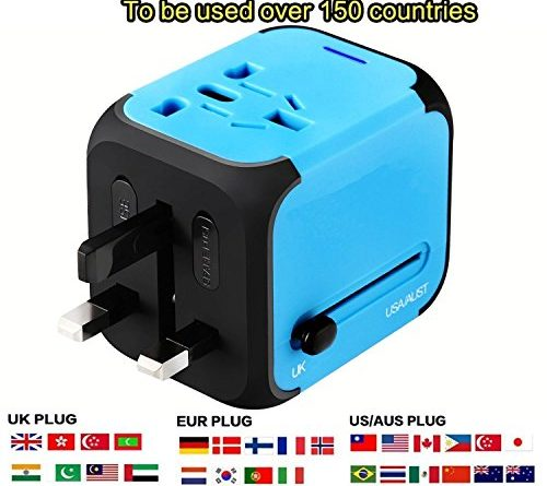 International Travel Power Adapter With 2 4a Dual Usb