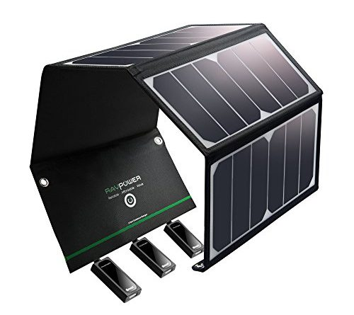 Solar Charger Ravpower 24w Solar Panel With Triple Usb