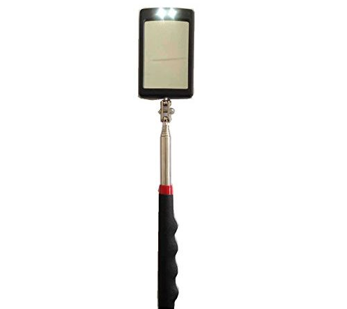 (red)telescoping Lighted Inspection Mirror,led Lighted
