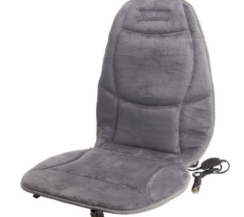 Rectangle Hi Off Lo Switch Seat Heater 4 Seats Install: Wagan IN9438-2 12V Heated Seat Cushion With Lumbar Support