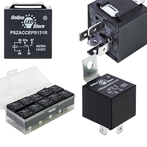 5 Pack 40  30 Amp 12 V Dc Waterproof Relay And Harness