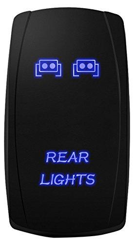 Mictuning Blue Rock Lights Rocker Switch Kit Off Blue