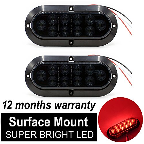 10 Pcs Tmh 3  4 U2033 Inch Mount Smoked Lens  U0026 Red Led Clearance